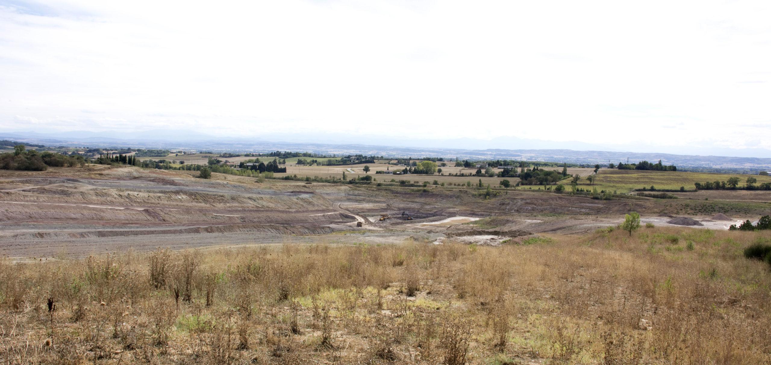 Vue champs agricole Saint-Papoul